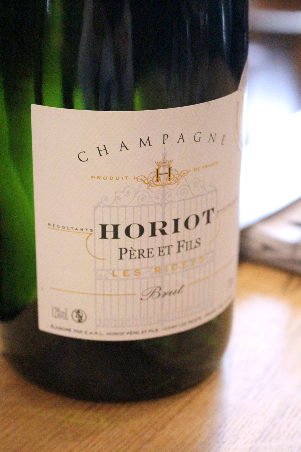 Champagne Horiot Pere et Fils at Club Marot Lille - travel & lifestyle blog