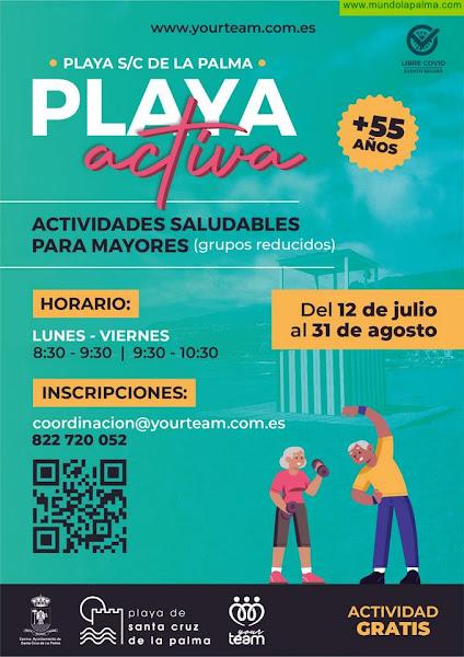 El Ayuntamiento capitalino lanza el programa 'Playa Activa' para mayores de 55 años