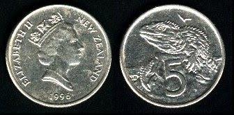 New Zealand  5 Cents (1986-1998) 1981