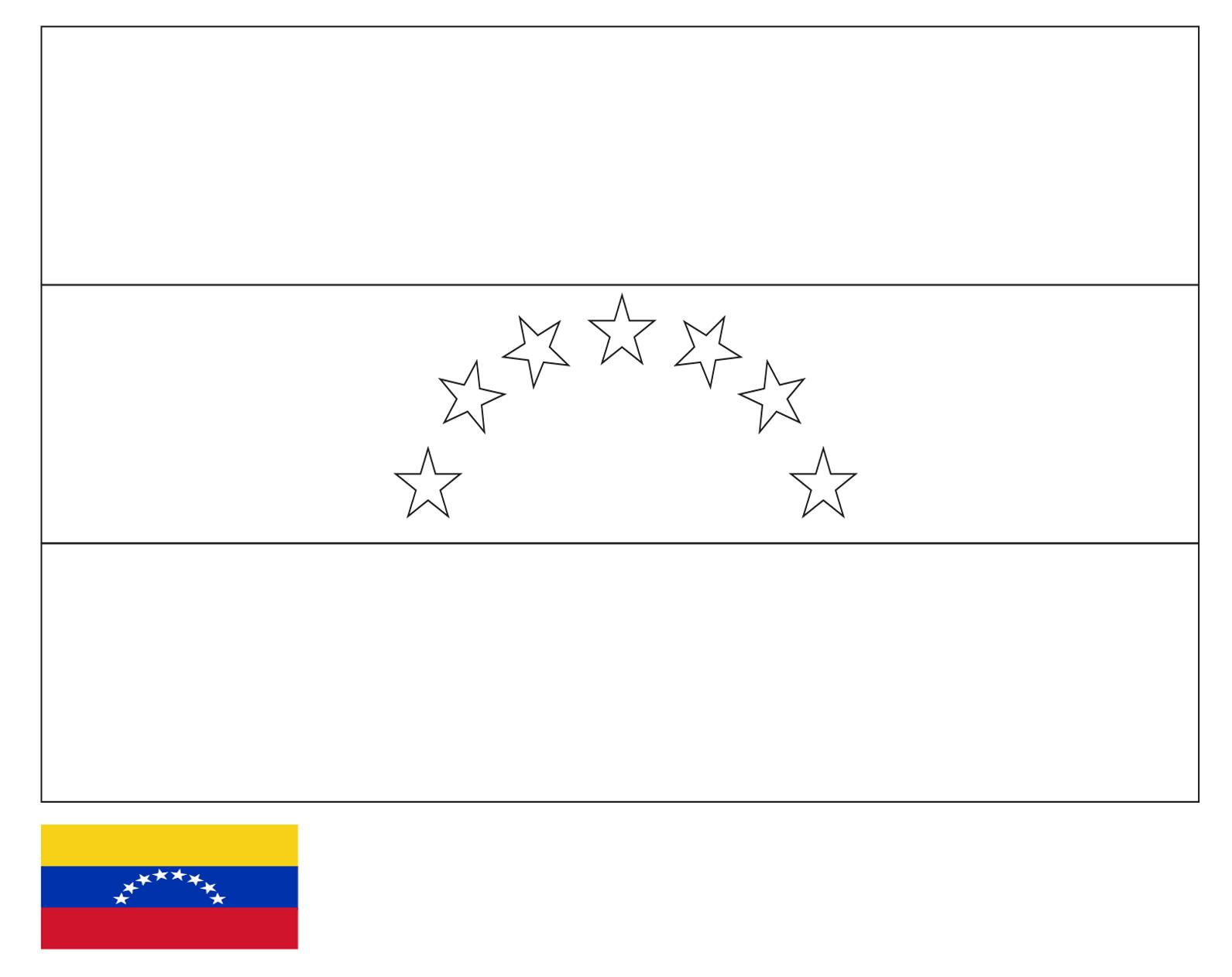 - Coloring Page Flag Of Venezuela Drawing Outline Vectors
