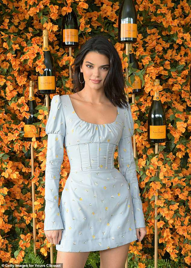Kendall Jenner shows off her model figure in short a mini-dress at Veuve Clicquot event in LA