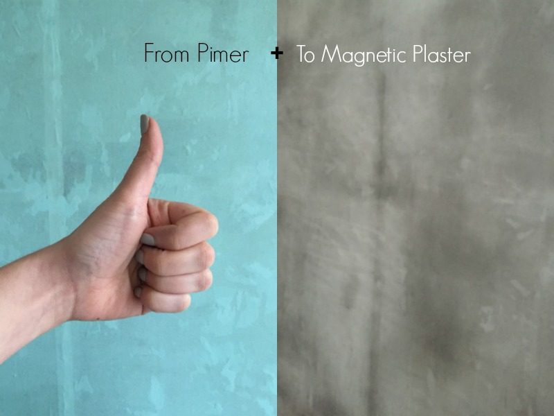 Thistle magnetic plaster DIY bedroom make over skimming walls