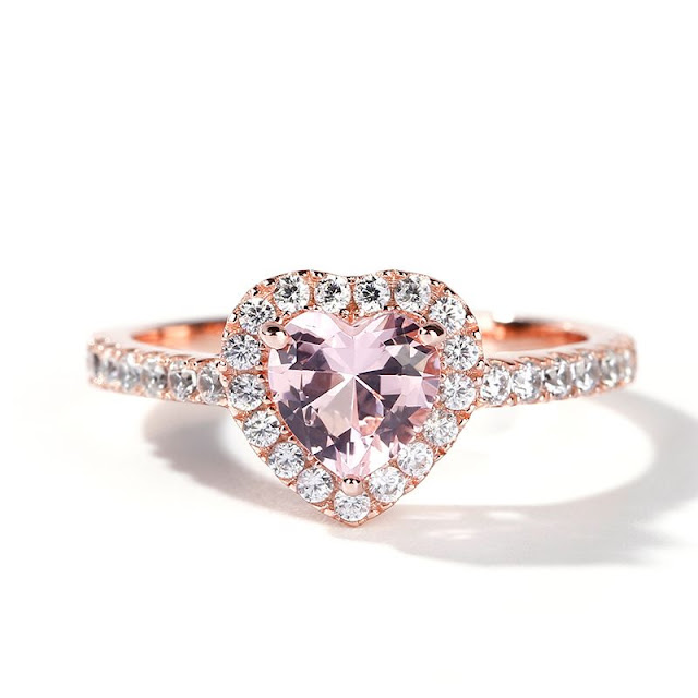 heart shape engagement rings