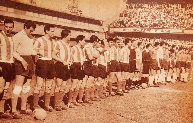 Argentina y Chile en Clasificatorias a Suecia 1958, 20 de octubre de 1957