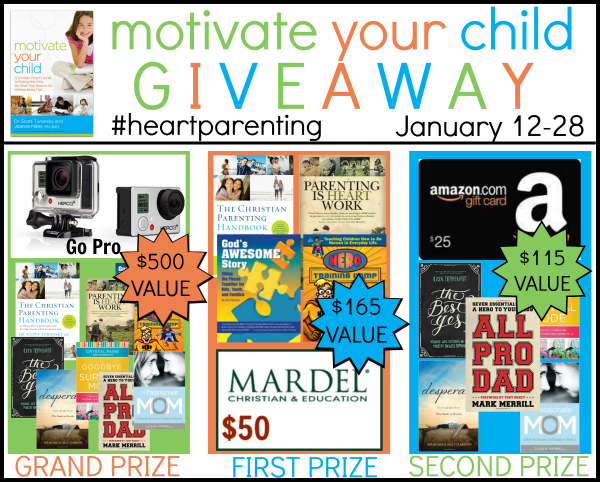 Motivate Your Child Giveaway - Ends 1/28/15