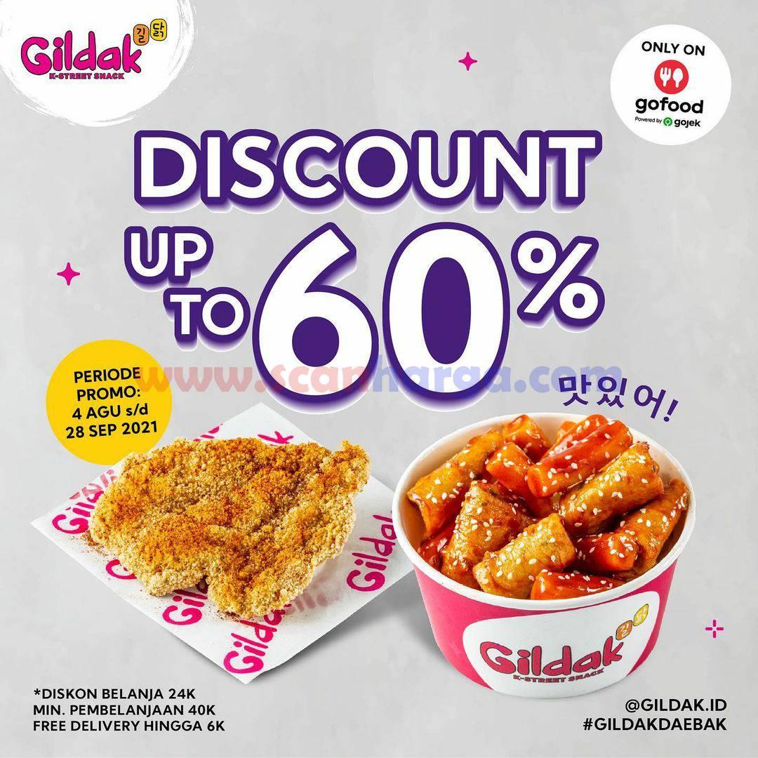 Promo GILDAK Terbaru Hingga 28 September - Diskon 60% Pake GOFOOD