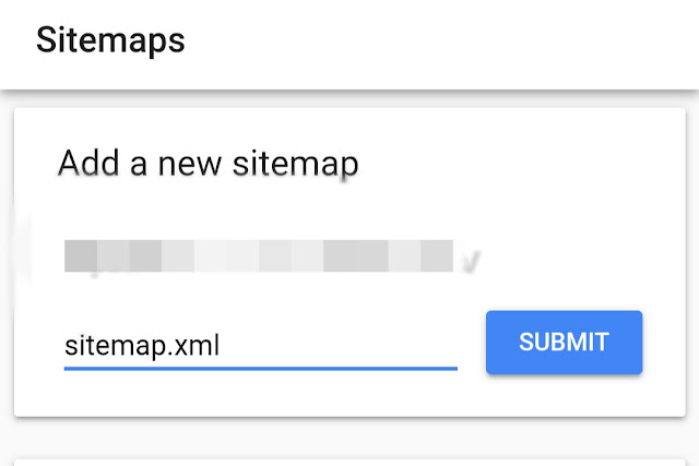 How to submit blogger sitemap