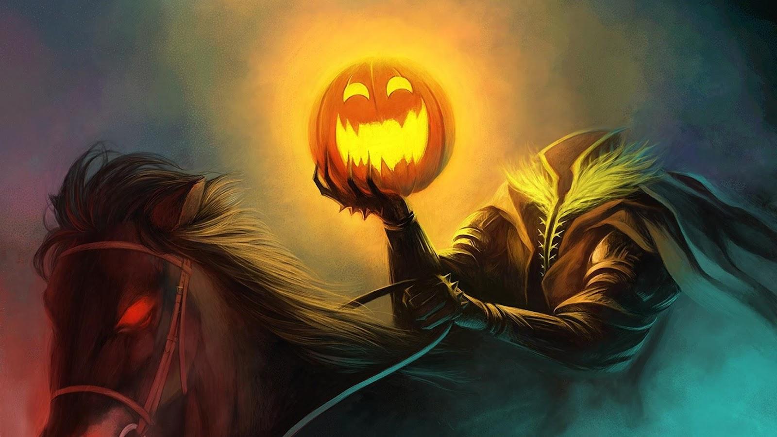 halloween, holiday, headless, horseman, pumpkin, horse | ELEGANCE