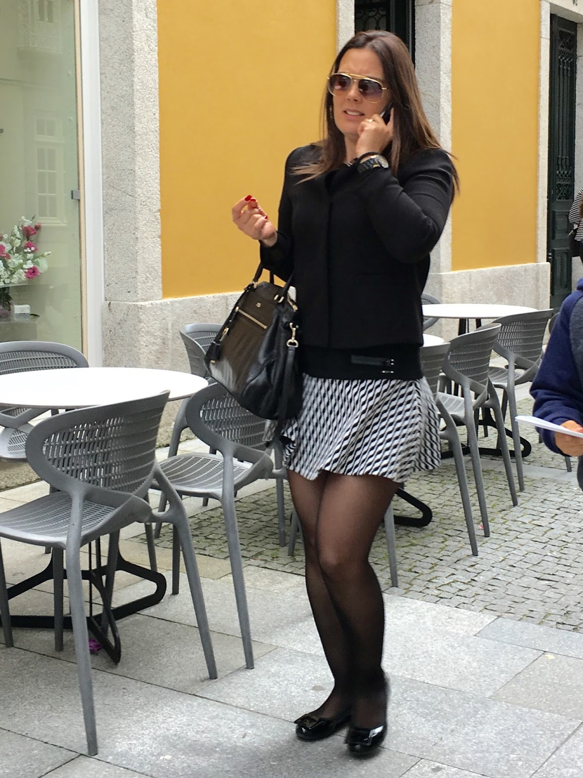 pantyhose and shoes Black