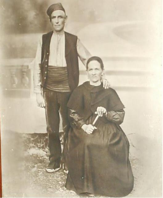 fotos antiguas, Beceite, Beseit, blanco y negro, b&n, blanco, negro, sepia, abuelos paternos José y Dolores