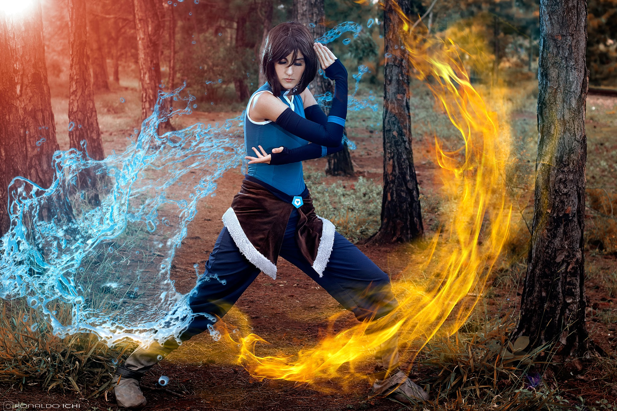 cosplay - Korra and Asami Sato from The Legend of Korra - cosplayers Rizzy and Rach - photography by Ronaldo Ichi