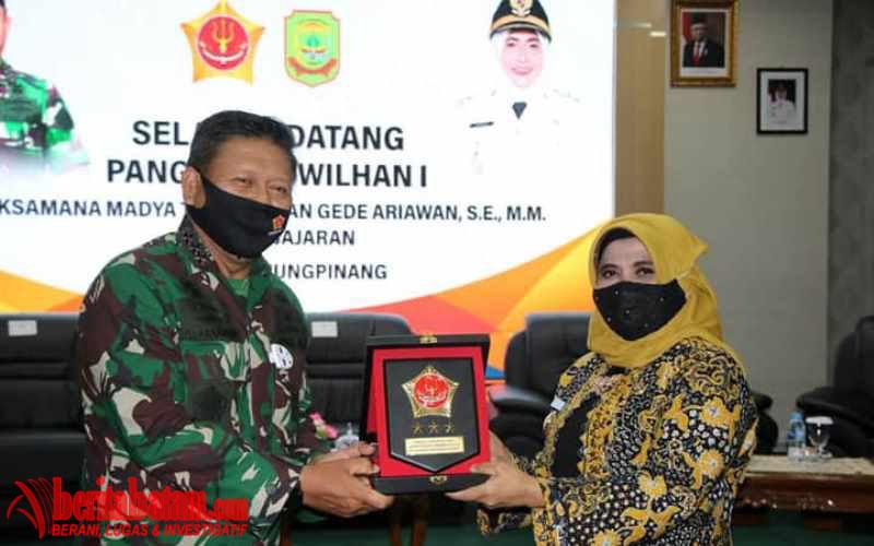 Plt. Wali Kota Tanjungpinang Sambut Kunker Pangkogabwilhan I