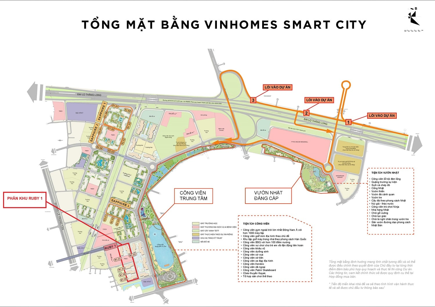 vi tri khu ruby 1 vinhomes smart city