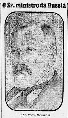 """Gravura do ministro Maximow, em 1915. (Foto: """"A Noite"""" (RJ), nº 1.404, de 18/11/1915)."""