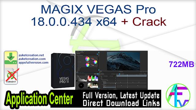 MAGIX VEGAS Pro 18.0.0.434 x64 + Crack