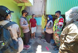 Tiga Pilar Kelurahan Mampu lakukan Pendataan PPKM Mikro diwilayah Polres Pelabuhan Makassar
