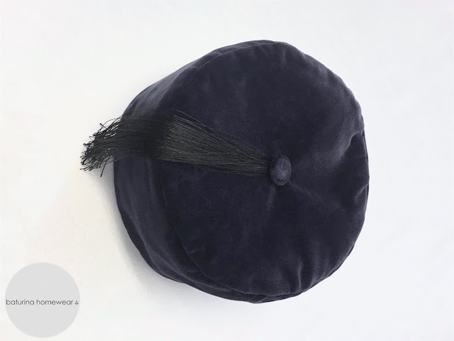 traditional victorian navy blue velvet smoking cap and dressing gown for men