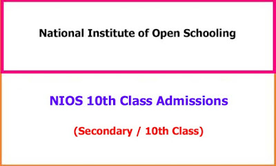 NIOS 10th Class Admissions Notification