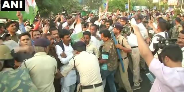 भोपाल में भाजपा कार्यालय पर कांग्रेस कार्यकर्ताओं का हमला, पथराव | BHOPAL NEWS