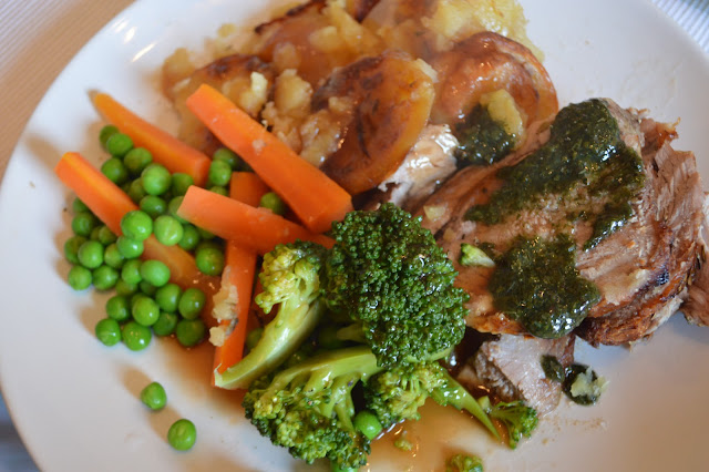 Roast Lamb with vegetables and Boulangere potatoes