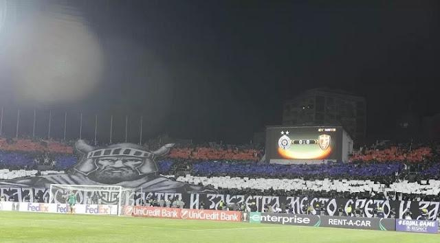 Partisan of Belgrade fans in match against Skanderbeg of Korça: Kosovo is Serbia