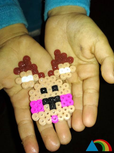 Reno de Papá Noel hecho con Hama Beads