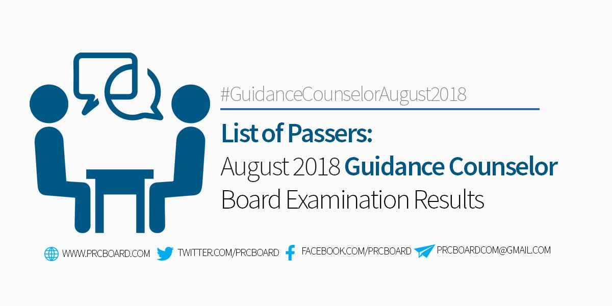 List Of Passers August 2018 Guidance Counselor Board Exam Results