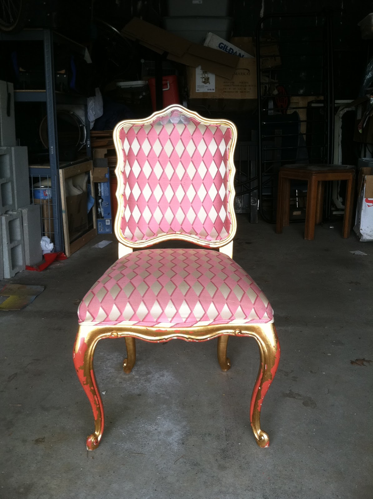 happily grateful DIY painted upholstered chair