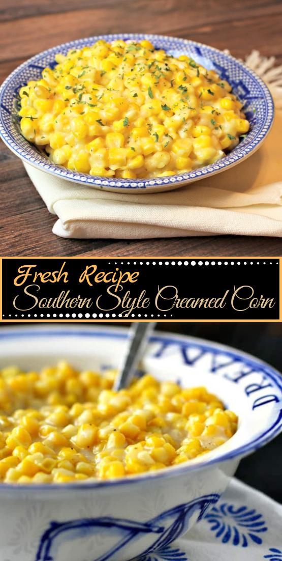 Southern Style Creamed Corn #vegan #vegetarian #soup #breakfast #lunch