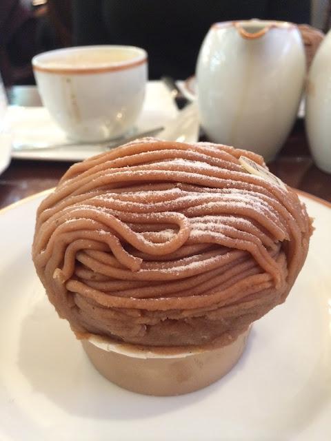 Angelina kafe, paris, mont blanc pasta, pasta, Cafe, pariste ne yenir