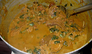 Cooking Nigerian groundnut soup step by step pics 012