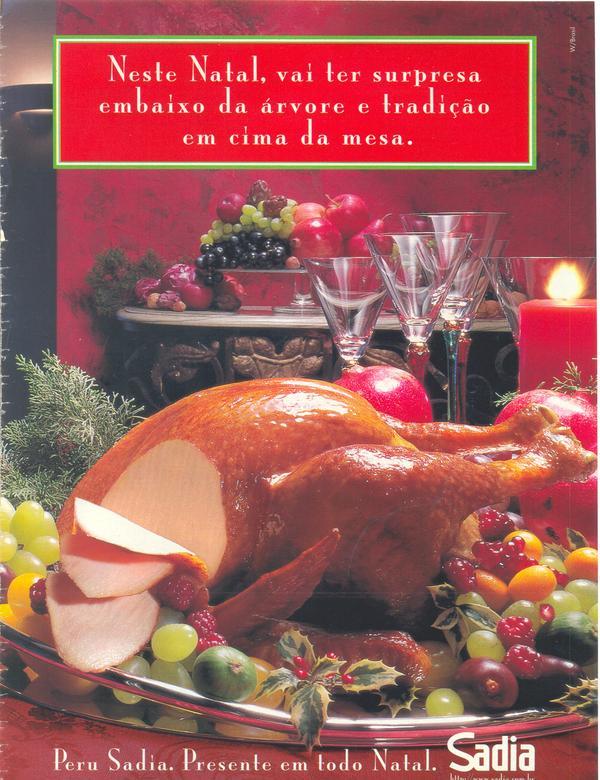 Propaganda antiga da Sadia para promover o seu clássico Peru de Natal
