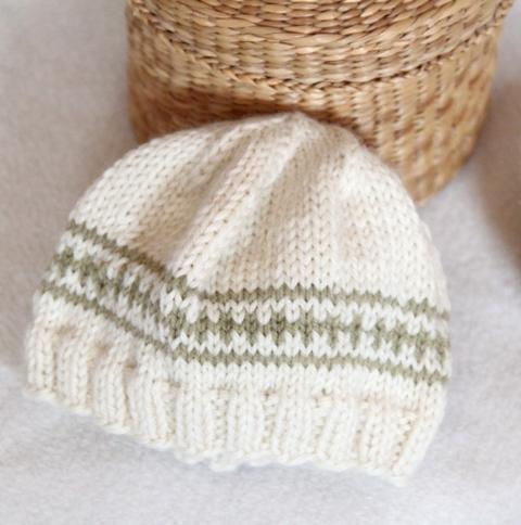 mütze für neugeborene stricken