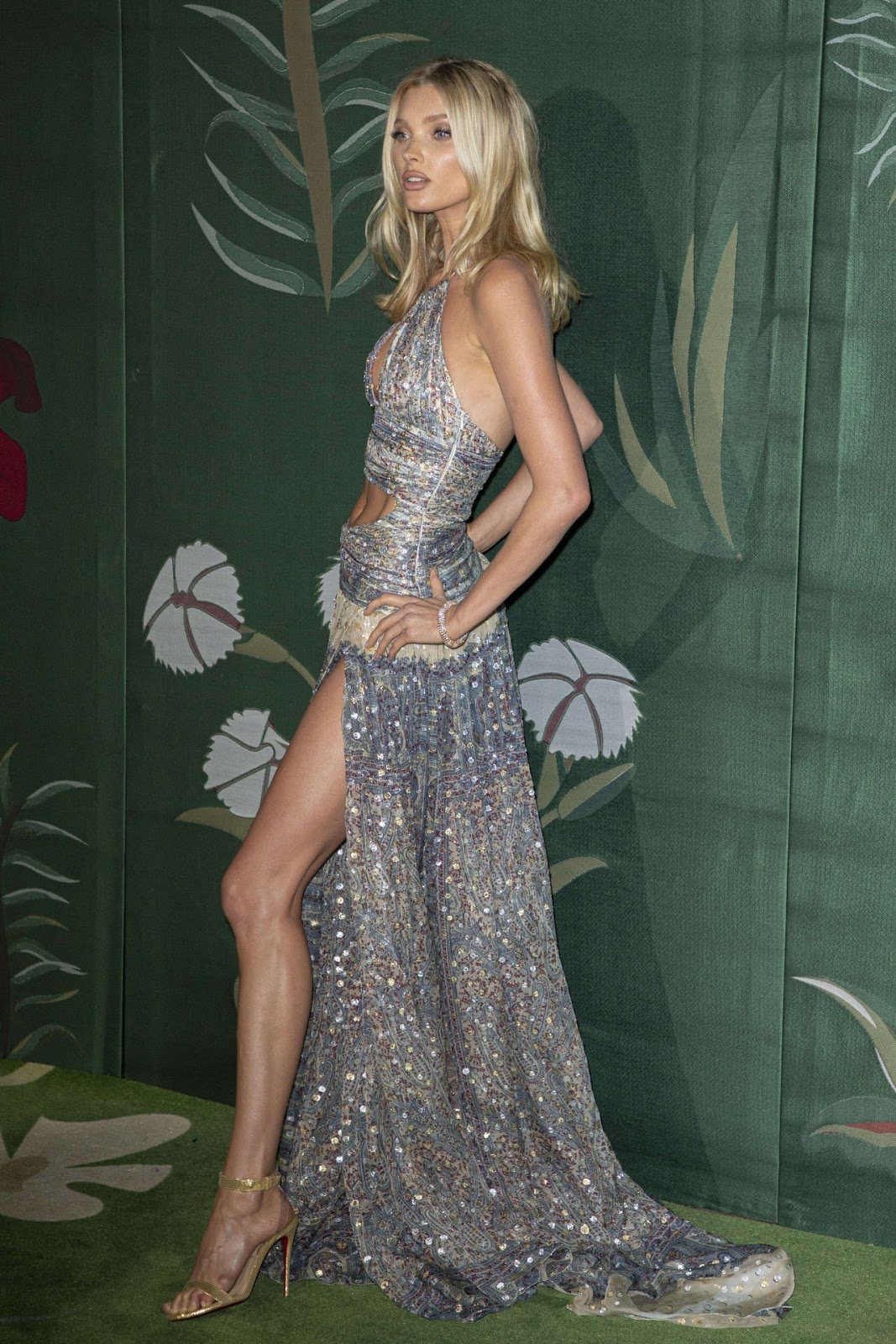 Elsa Hosk – Green Carpet Fashion Awards 2019 in Milan, Italy
