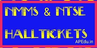 NMMS & NTSE Halltickets