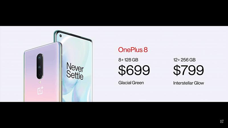 OnePlus 8 prices