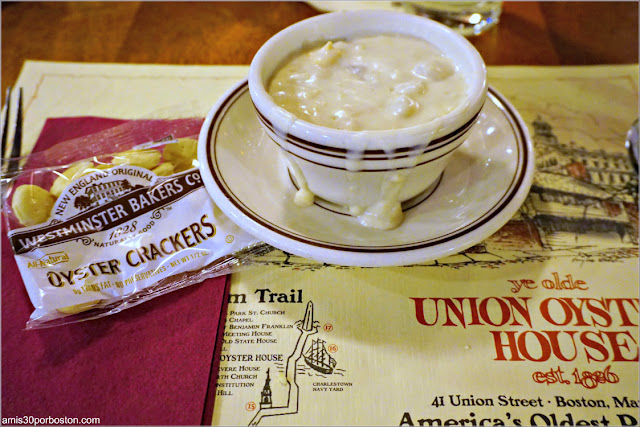 Clam Chowder en el Union Oyster House, Boston