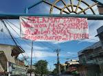 """Selamat Datang Walikota M.Syahrial Di Jalan Rusak"", Ungkapan Protes Warga Memakai Spanduk"