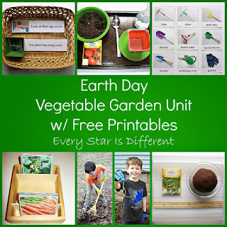Vegetable garden learning activities with free printables.