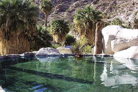 Aguas termales en el desierto