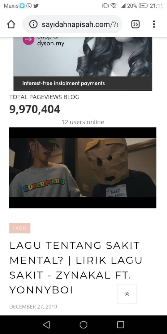 blog capai 10 juta pageviews sebelum 2020