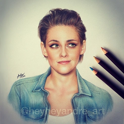 18-Kristen-Stewart-André-Manguba-Celebrities-Drawn-and-Colored-in-with-Pencils-www-designstack-co