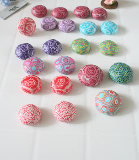 Polymer clay focal's for ear studs and rings
