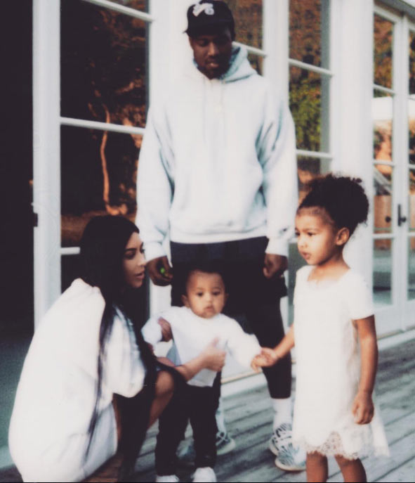 Kim K clears divorce rumors with adorable family photo