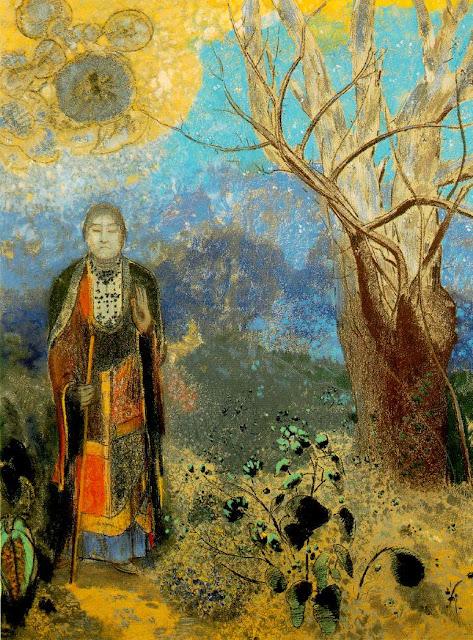 オディロン・ルドン、不気味な「目」を描いた画家の作品、10枚【a】 仏陀