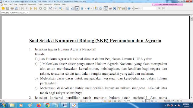 Download contoh soal pppk skb pertanahan dan agraria dan kunci jawaban