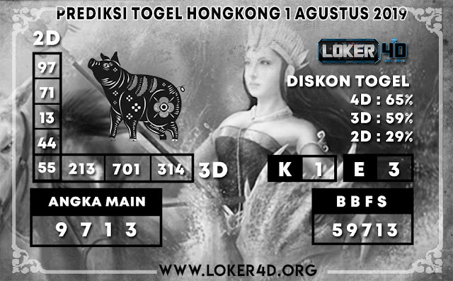 PREDIKSI TOGEL HONGKONG LOKER4D 1 AGUSTUS  2019