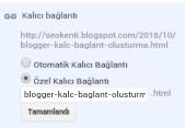 Blogger kalıcı bağlantı