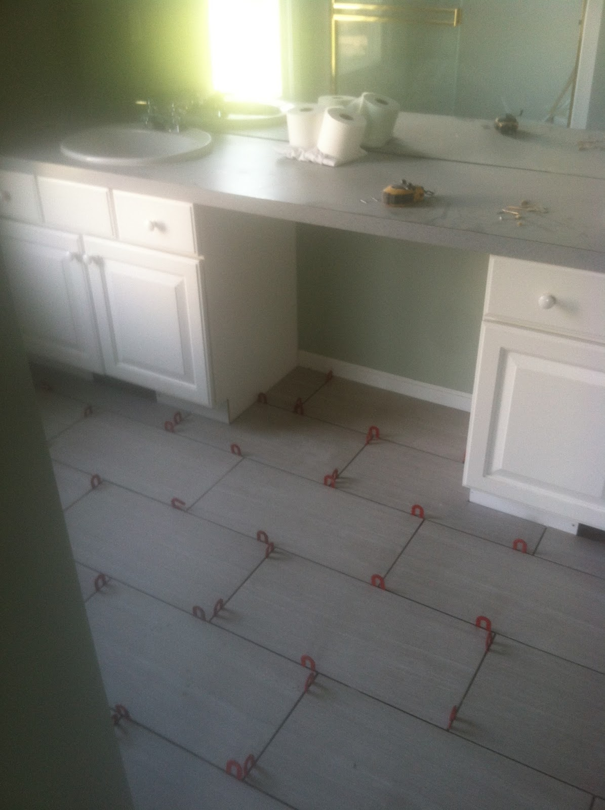 bathroom floors without grout adam s overhaul carpet update and tile install 15957