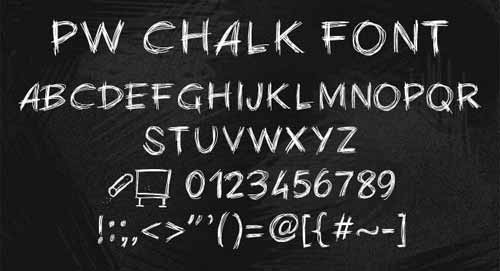 download free chalk font